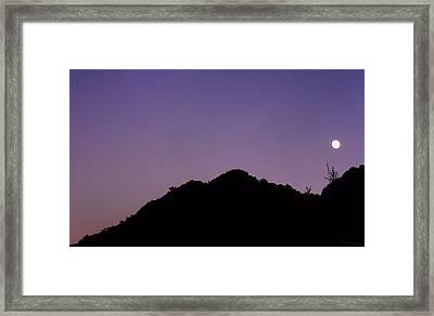 Desert Moonrise  Framed Print by Lin Haring