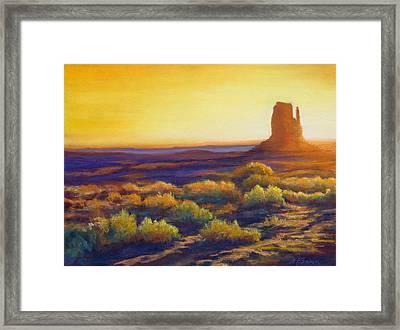 Desert Morning Framed Print