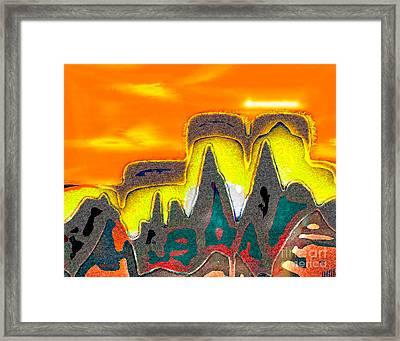 Desert Mountain Abstract Framed Print