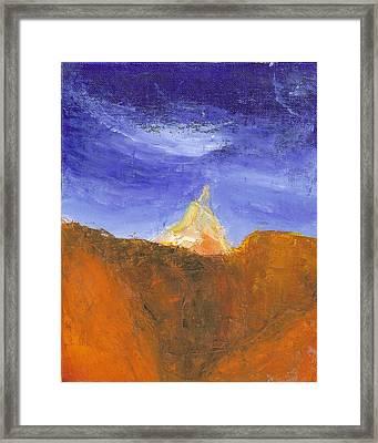 Desert Mountain Canyon Framed Print