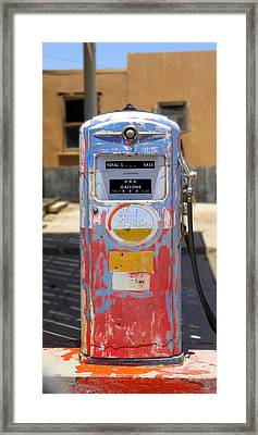 Desert Mountain Super Gasoline - Bennett Gas Pump Framed Print by Mike McGlothlen