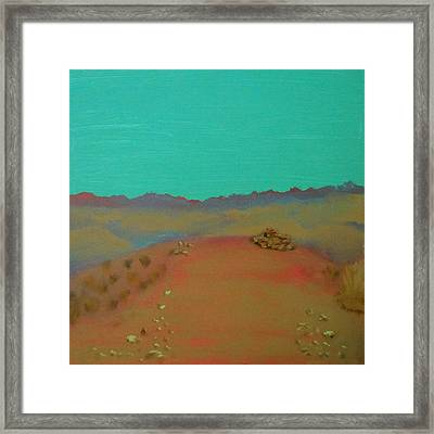 Framed Print featuring the painting Desert Overlook by Keith Thue