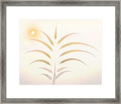 Desert Palm - Digital Abstract Framed Print by Gina Lee Manley