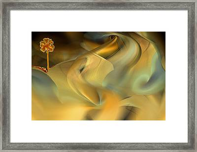 Desert Palm In Sandstorm Framed Print