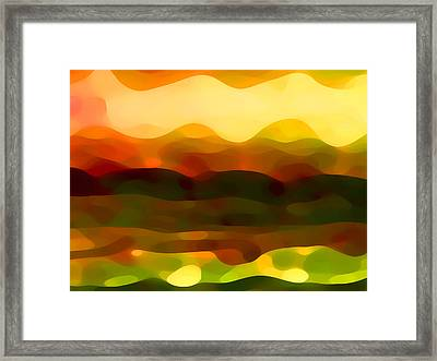 Desert Pattern 2 Framed Print by Amy Vangsgard