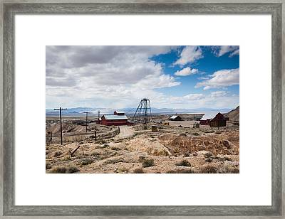 Desert Queen Hoist House And Mine Framed Print by Panoramic Images