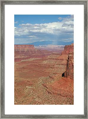 Framed Print featuring the photograph Desert Rain by Jon Emery