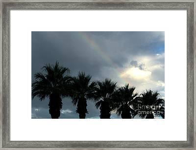 Desert Rainbow Framed Print by Deborah Smolinske