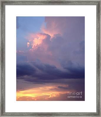 Desert Rainstorm 6 Framed Print by Kerri Mortenson
