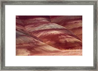 Desert Red Framed Print by Mike  Dawson