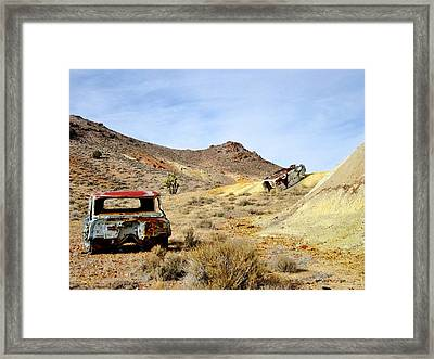 Framed Print featuring the photograph Desert Relics by Marilyn Diaz