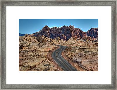 Desert Road Framed Print