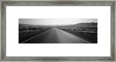 Desert Road, Nevada, Usa Framed Print by Panoramic Images