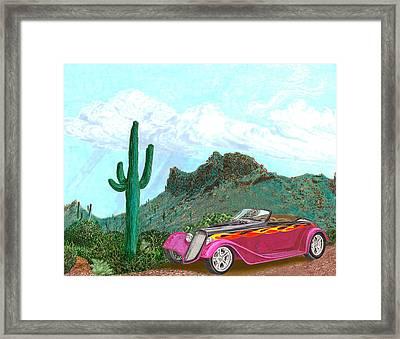 Desert Roadster 34 Ford Framed Print by Jack Pumphrey