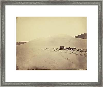 Desert Sand Hills Near Sink Of Carson Framed Print