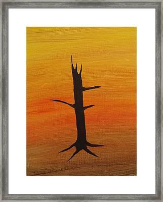 Desert Sentinal Framed Print by Keith Nichols