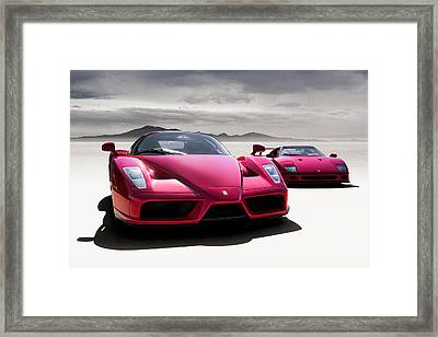 Desert Showdown Framed Print by Douglas Pittman