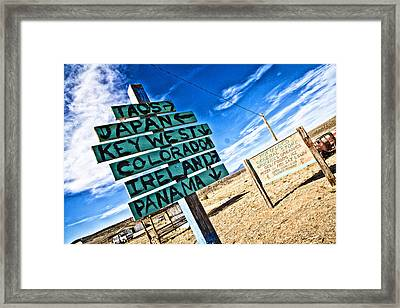 Desert Signs Framed Print by Shanna Gillette