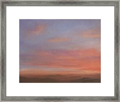 Desert Sky A Framed Print