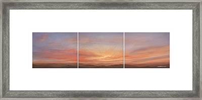 Desert Sky Triptych Framed Print