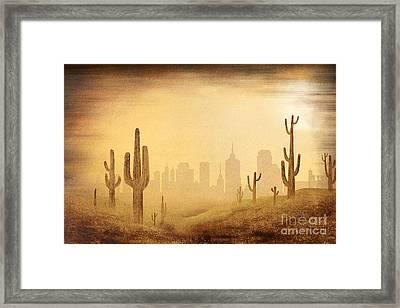 Desert Skyline Framed Print by Bedros Awak