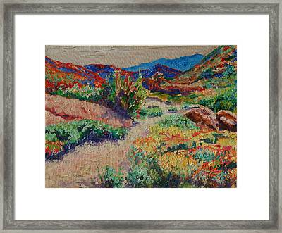 Framed Print featuring the painting Desert Spring Flowers Namaqualand by Thomas Bertram POOLE