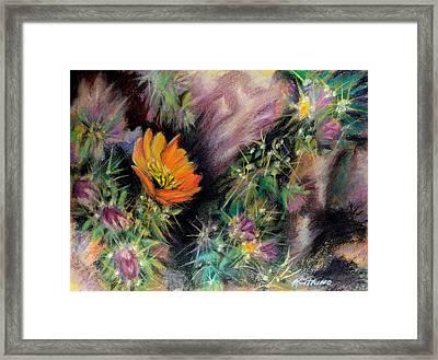 Desert Spring Impression Of   Pastel Framed Print