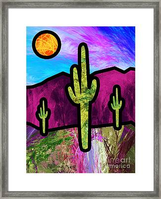 Desert Stained Glass Framed Print by Methune Hively