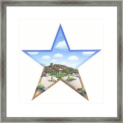 Desert Star Framed Print by Snake Jagger
