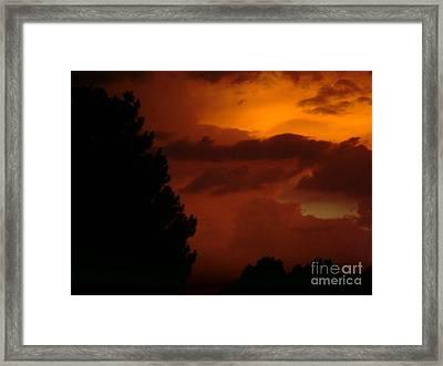 Desert Storm Framed Print by Carla Carson
