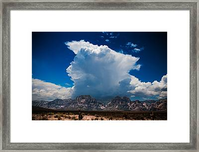 Framed Print featuring the photograph Desert Storm by Chris McKenna
