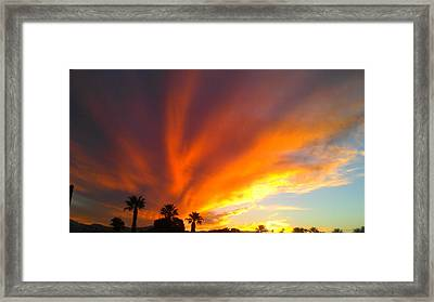 Framed Print featuring the photograph Desert Storm by Chris Tarpening
