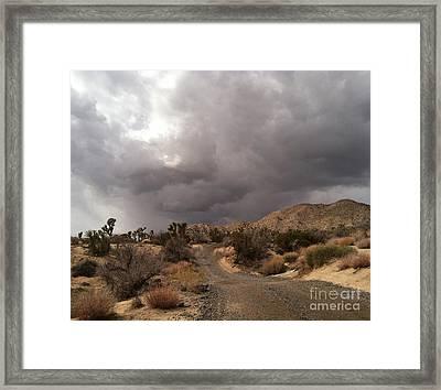 Desert Storm Come'n Framed Print