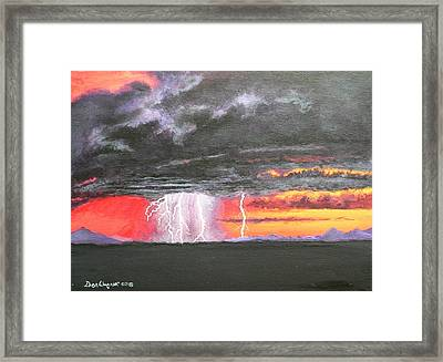 Framed Print featuring the painting Desert Storm by Dan Wagner