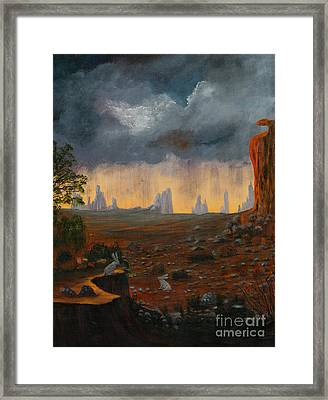 Framed Print featuring the painting Desert Storm by Myrna Walsh
