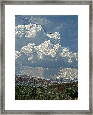 Desert Summer Rain 5 Framed Print