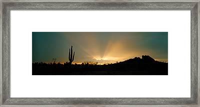 Desert Sun Beams, Near Phoenix Framed Print by Panoramic Images