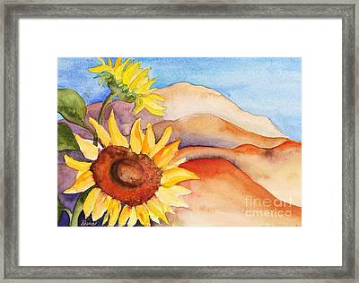 Desert Sunflower Framed Print