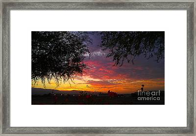 Desert Sunrise Framed Print by Chris Tarpening