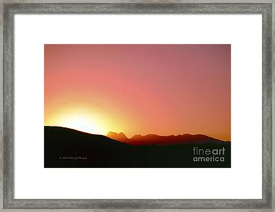 Desert Sunrise Framed Print