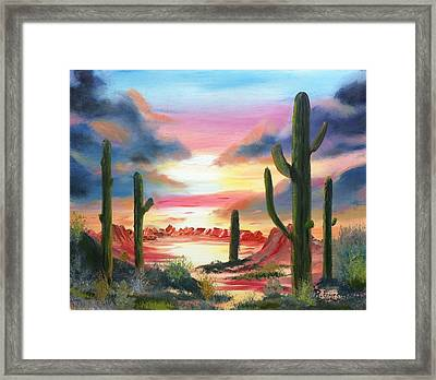 Desert Sunrise Framed Print by Roy Gould