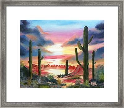 Desert Sunrise Framed Print by Roy Gould