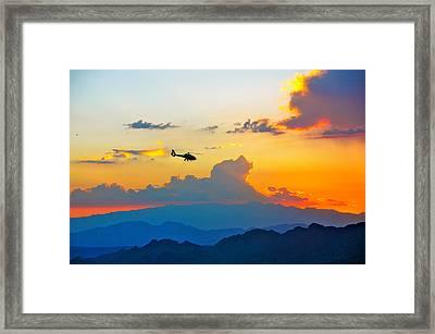 Desert Sunset Framed Print by Amanda Miles