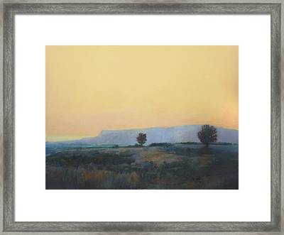 Framed Print featuring the painting On To California by Cap Pannell