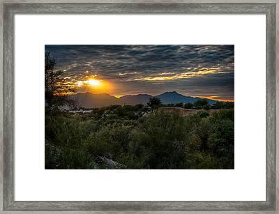 Framed Print featuring the photograph Desert Sunset by Dan McManus