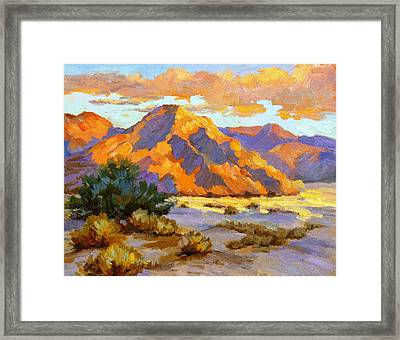 Desert Sunset Framed Print by Diane McClary