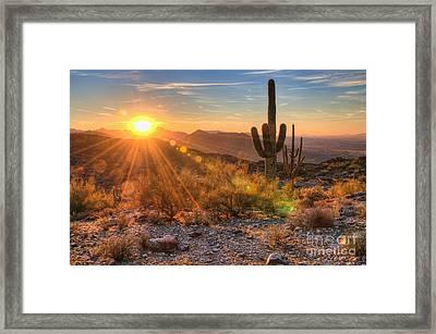 Desert Sunset II Framed Print