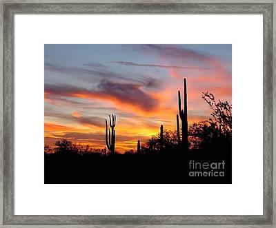 Desert Sunset Framed Print by Joseph Baril