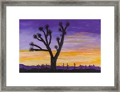 Desert Sunset Framed Print by Margaret Pappas