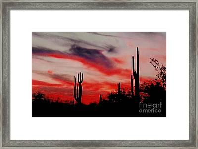 Desert Sunset Northern Lights Version 3 Framed Print